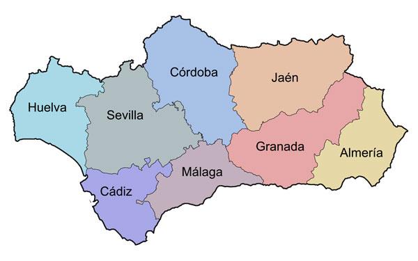 Andalucia provinces