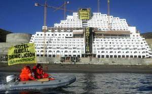 ILLEGAL: Algarrobico hotel has been focal point of Greenpeace protests
