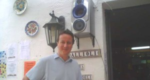 DISCOVERY: British PM David Cameron at Bar Allioli, Jimera de Libar during a holiday in the area